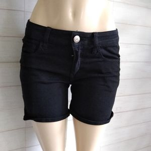 American Eagle Outfitters black stretch Midi short
